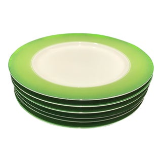 Lynn Chase Green and White Chargers - Set of 6 For Sale