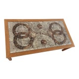 Image of Gangso Mobler Mid-Century Danish Teak and Ceramic Top Coffee Table For Sale