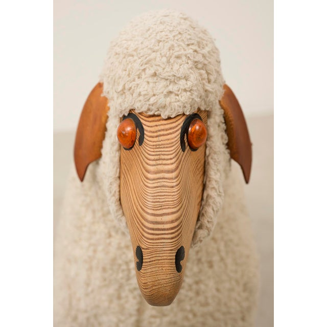 Life-Sized Sheep in Sheepskin and Beech, Germany, 1970s For Sale In Santa Fe - Image 6 of 13