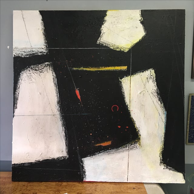 Large Abstract Expressionist Painting - Image 2 of 9