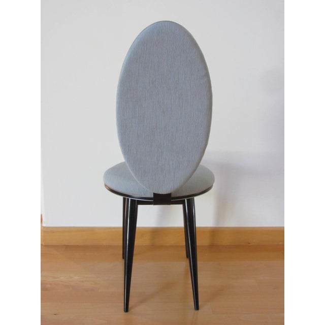 Art Deco Oval Back Lacquer Dining Chairs - 10 - Image 8 of 11
