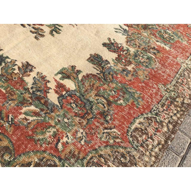 Vintage Hand Knotted Turkish Rug For Sale - Image 10 of 11