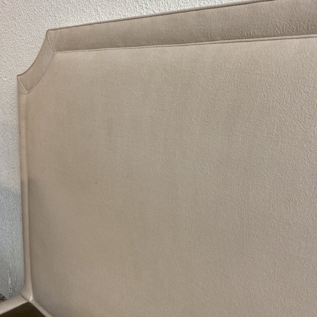 California King Nathan Anthony Brownstone Upholstered Bedframe For Sale - Image 10 of 11