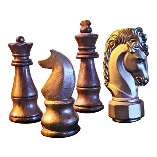 Collection of Chess Game Figurines - Set of 4 For Sale