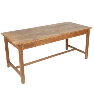 20th Century Rustic Pine Farm Work Table For Sale