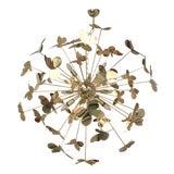 Image of Italian Hand Made Gold 24k Butterfly Chandelier Sputnik For Sale