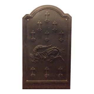 Dragon Fireback, circa 1820 For Sale