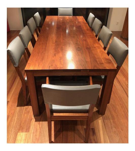 De La Espada Walnut Dining Table And Chairs