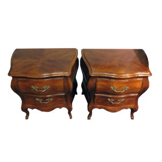 1950's John Widdicomb Bombe Small Chests-a Pair For Sale