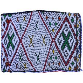Diamond-Patterned Moroccan Berber Pillow For Sale
