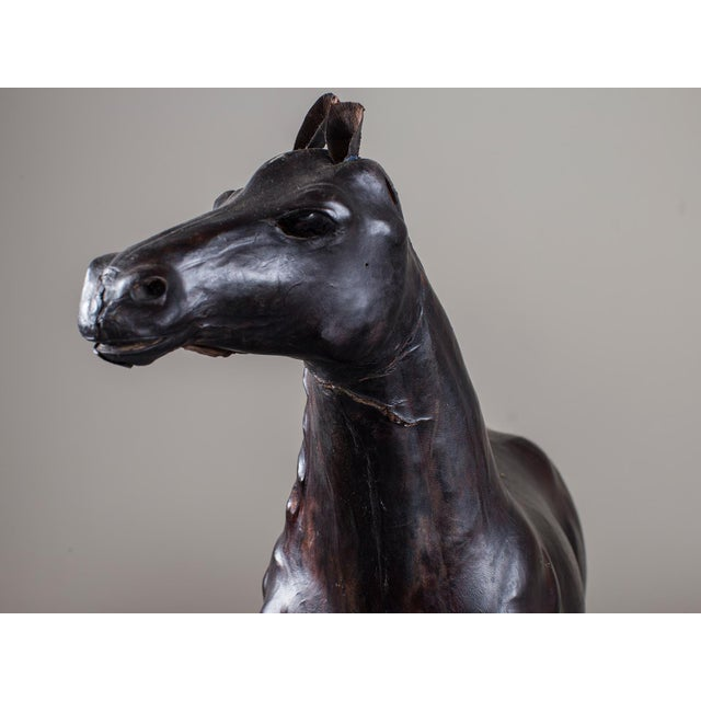 Vintage English Liberty Leather Horse circa 1920 - Image 8 of 11