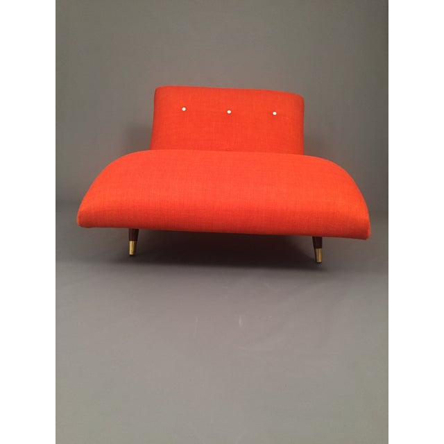Adrian Pearsall Style Orange Wave Lounge Chaise - Image 10 of 11