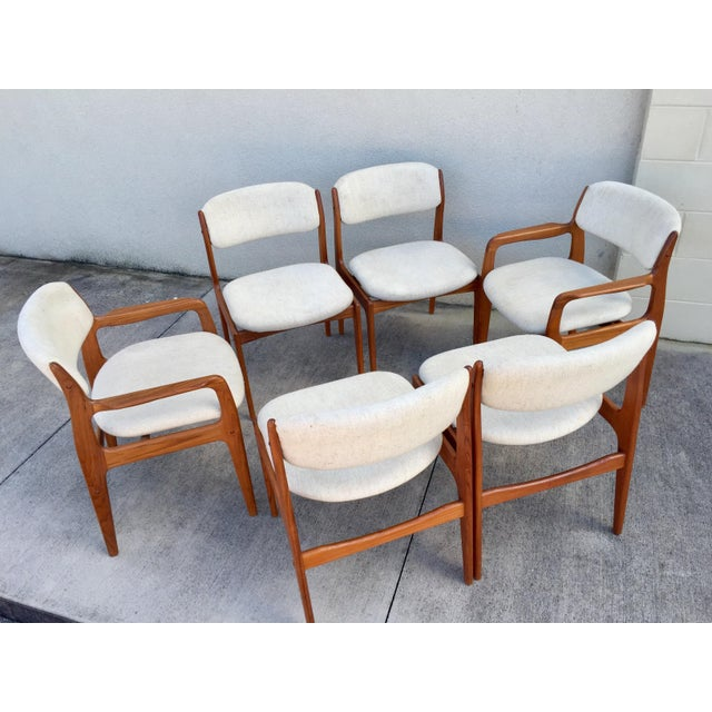 Danish Modern Mid-Century Benny Linden Dining Chairs - 6 For Sale - Image 3 of 10
