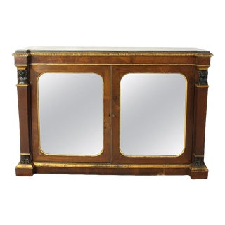 English Regency Mirror Front Cabinet For Sale