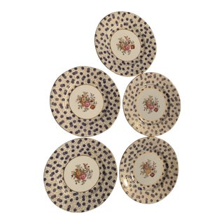 Early 20th Century China Dinner Plates - Set of 5 For Sale