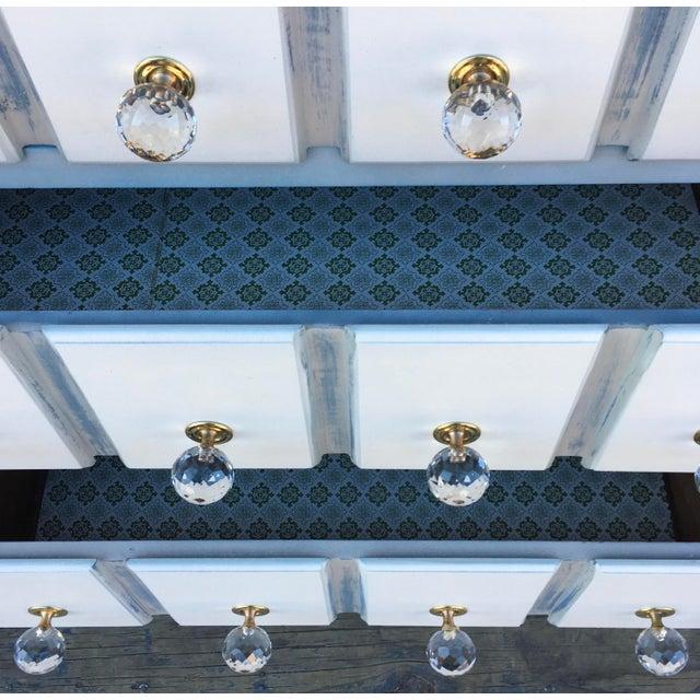 1980s Pulaski Furniture Nightstand W/ Crystal Pulls For Sale - Image 9 of 13