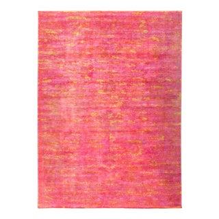 """Vibrance, Hand Knotted Area Rug - 8'9"""" X 11'9"""" For Sale"""