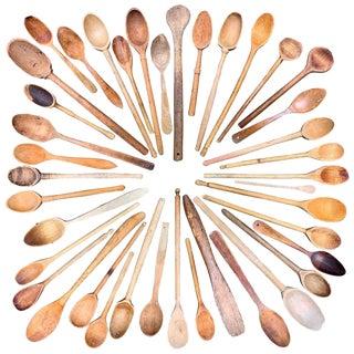 Vintage Wooden Kitchen Spoons - Set of 40 For Sale