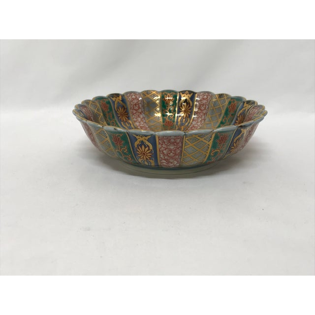 Asian Chinese Imari Porcelain Bowl For Sale - Image 3 of 5