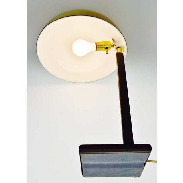 Mid Century Brass Dome Shade Desk Lamp For Sale - Image 12 of 13