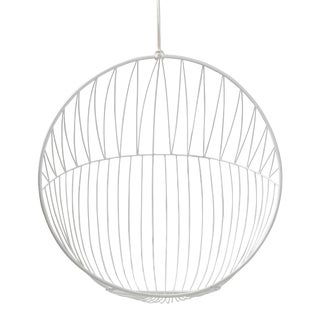 Bubble Hanging Swing Chair - Sun Pattern - White For Sale