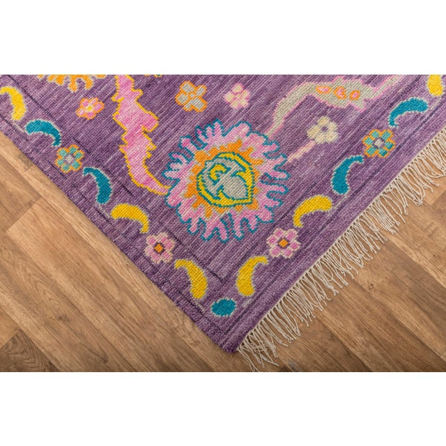 Textile Contemporary Turkish Oushak Rug - 10′4″ × 13′4″ For Sale - Image 7 of 8