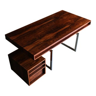 Bodil Kjaer Rosewood Desk for E. Pederson and Sons A/S Circa 1959 For Sale