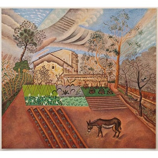 """1940s Joan Miró """"The Farm in Montroig"""", First Edition Period Swiss Lithograph For Sale"""