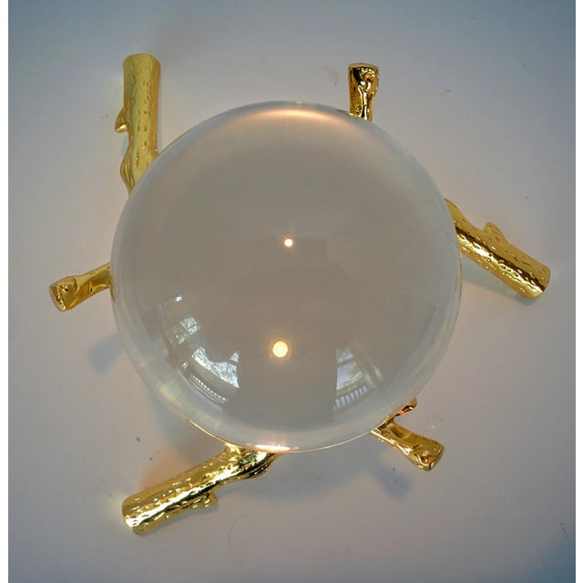 Crystal Orb With Gold Base - Image 9 of 9