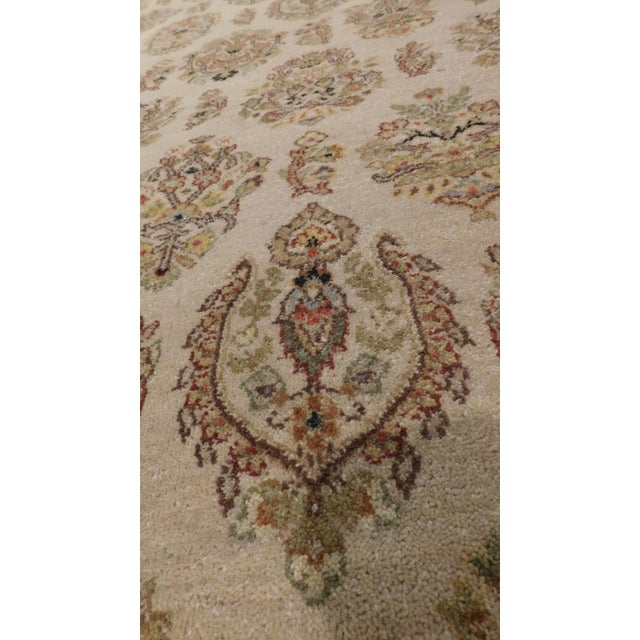 """Asian Hand Made Indian Rug - 9' x 11'10"""" For Sale - Image 3 of 3"""