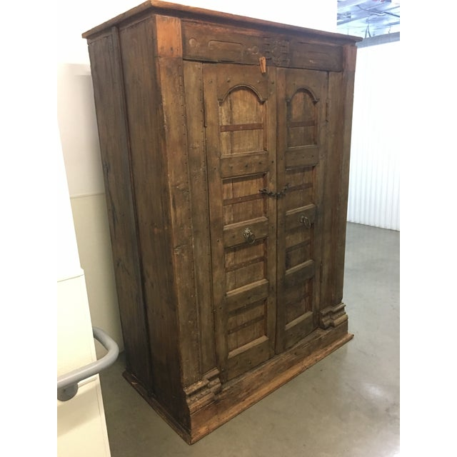 Handmade Antique Wooden Armoire - Image 3 of 9