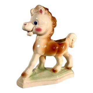 Vintage Ceramic Horse Planter For Sale