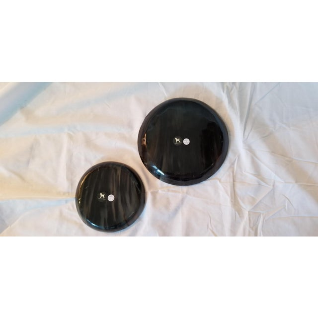 Bone Lewes Round Tray Set - a Pair For Sale - Image 7 of 8