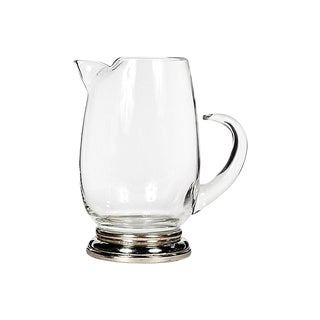 1960s Silver-Plate & Glass Pitcher
