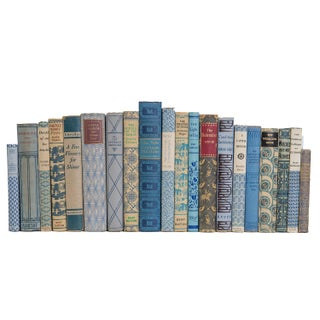 Vintage Denim and Wheat Book Set Preview