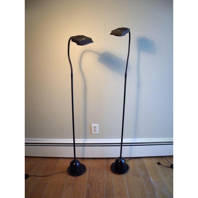 Almost impossible to find ---set of 2 vintage modern floor lamps from Electrix. Halogen bulbs with foot switch. Fantastic...
