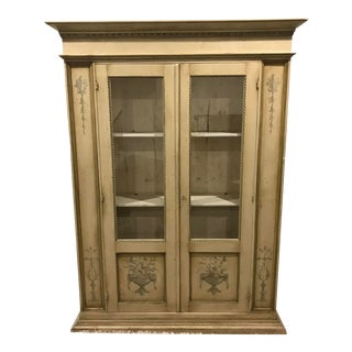 20th Century French Mersaille Hand-Painted Oak Cabinet For Sale