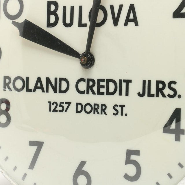 Bulova Advertising Wall Clock For Sale - Image 4 of 8