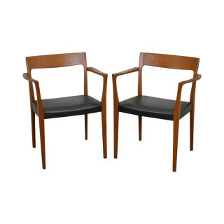 Danish Modern Teak Arm Chairs by Svegards Markaryd - A Pair For Sale