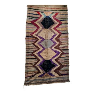 Mid-Century Modern Moroccan Rug - 4′2″ × 9′ For Sale