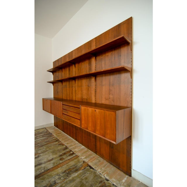 Large Mid-Century Design Teakwood Cadovius Wall Unit, Denmark, 1960s For Sale - Image 6 of 11