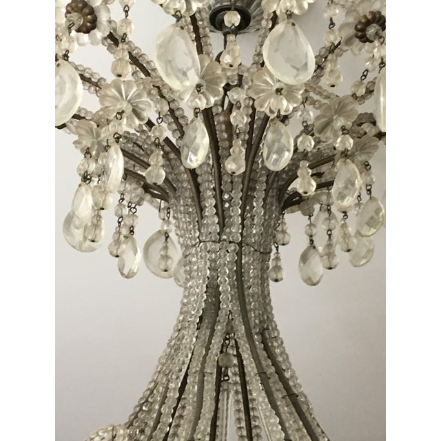 Late 20th Century Italian Copper and Crystal 12 Light Chandelier For Sale - Image 4 of 5