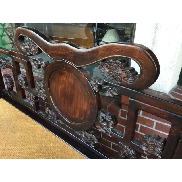 Antique Carved Opium Bed - Image 7 of 11