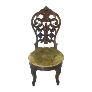 Ornate High Back Accent Chair