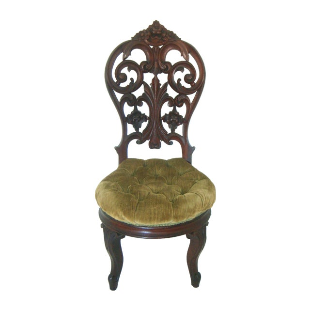 Ornate High Back Accent Chair - Image 1 of 6