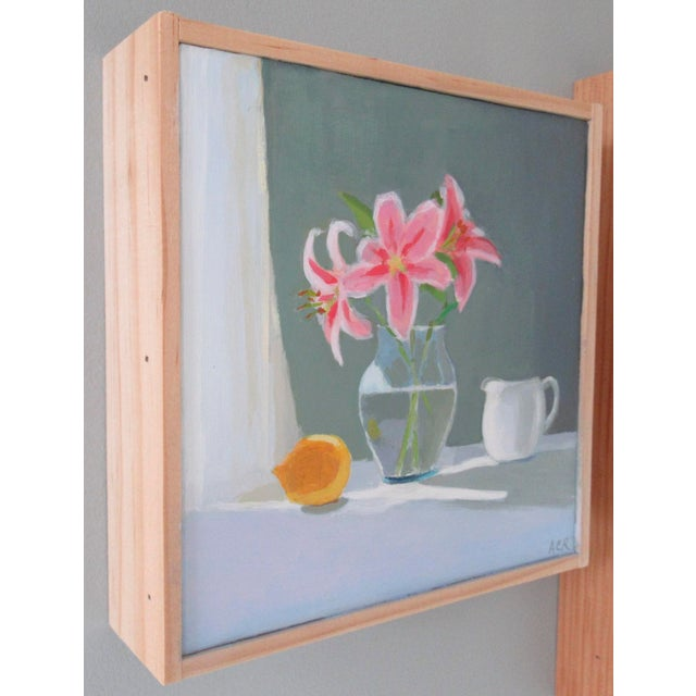 French Lilies, Lemon and Creamer by Anne Carrozza Remick For Sale - Image 3 of 6