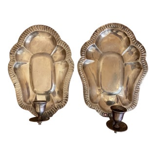 Brass Candle Sconces - A Pair For Sale