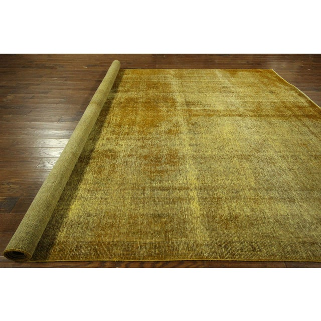 "Gold Wash Overdyed Tabriz Rug - 9' 6"" x 12' 5"" - Image 9 of 9"
