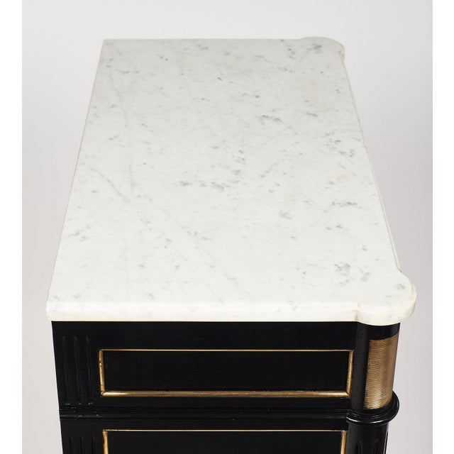 Animal Skin Louis XVI Style French Antique Secretary Desk For Sale - Image 7 of 10