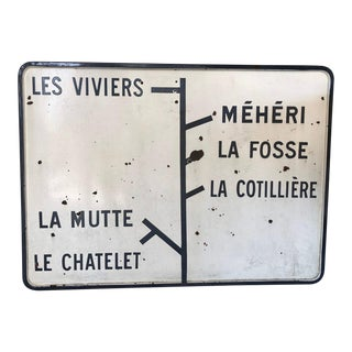 Vintage French Metro Sign For Sale